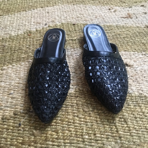 ASOS Shoes - ASOS Black Woven Slides